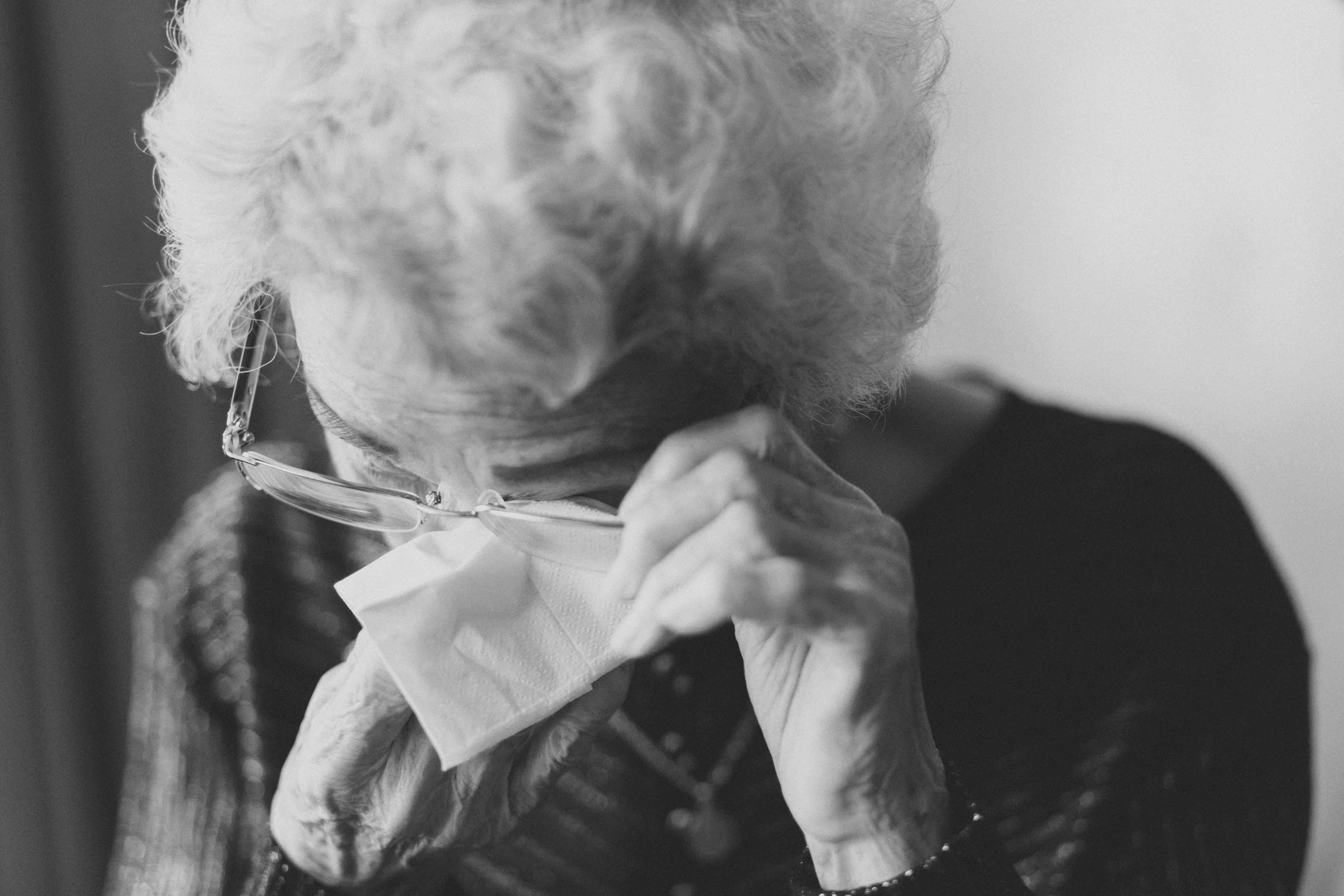 A photo of a old lady needing home care